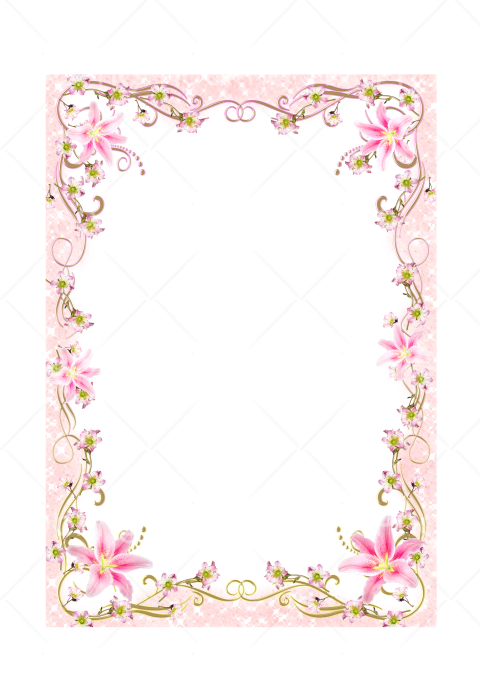 frame png flowers Transparent Background Image for Free