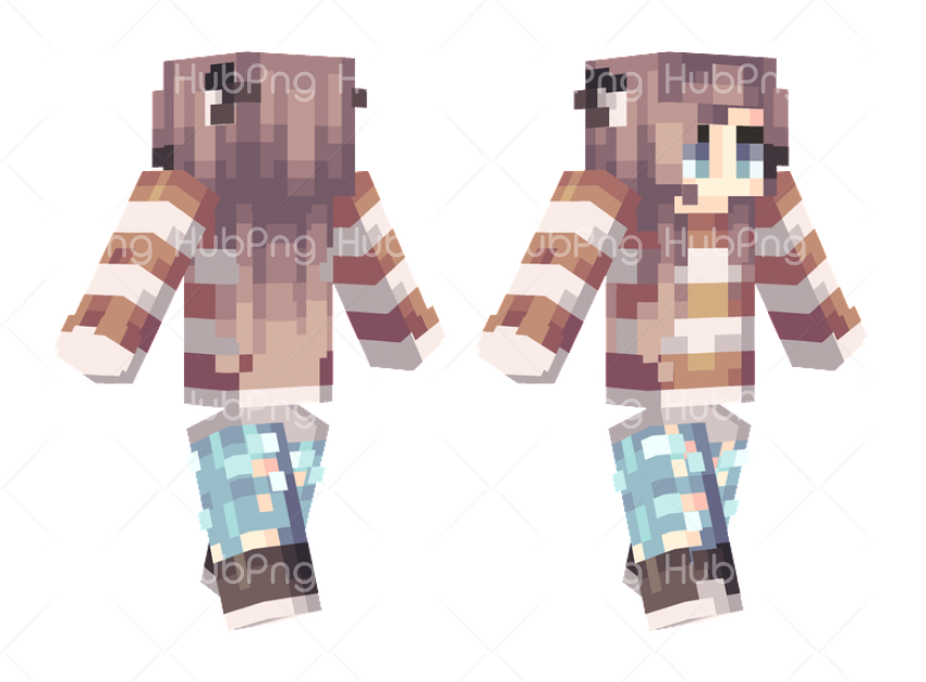 girl skin minecraft Transparent Background Image for Free