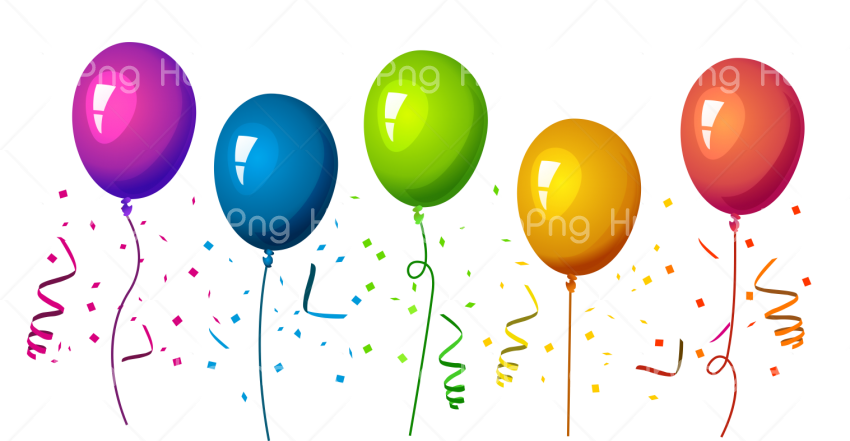 globos Transparent Background Image for Free