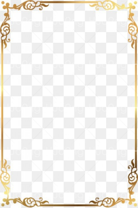 gold border png Transparent Background Image for Free