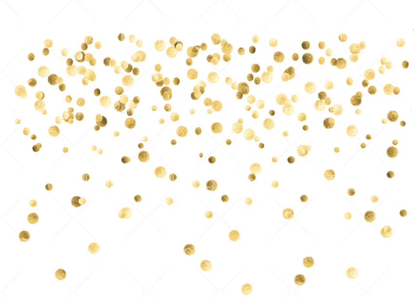 gold confetti png Transparent Background Image for Free