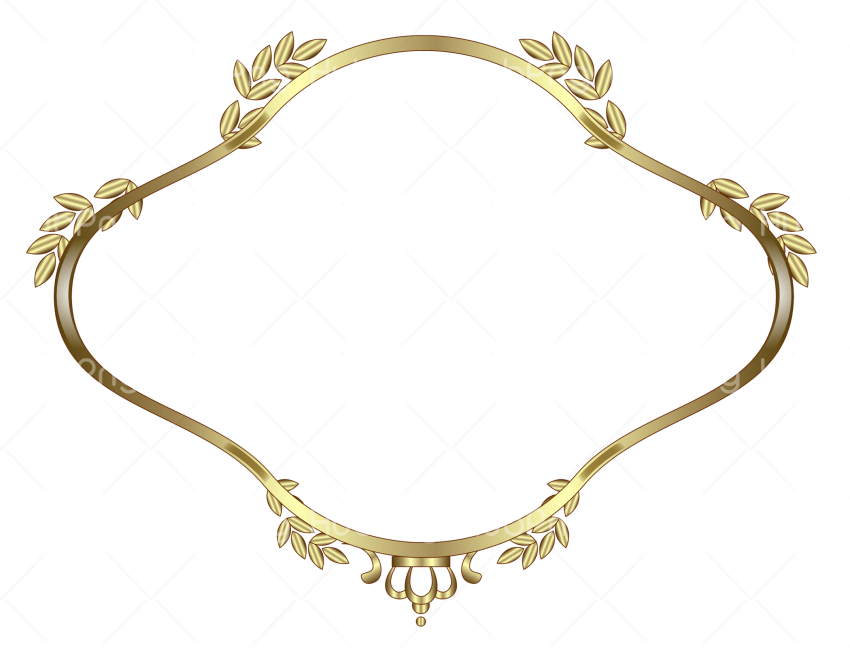 gold frame png Transparent Background Image for Free