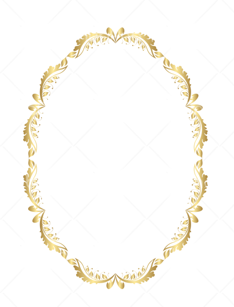 gold frame png hd round circl Transparent Background Image for Free