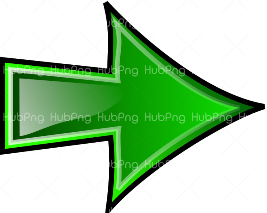 green arrow flecha png Transparent Background Image for Free