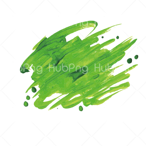 green brush stroke png Transparent Background Image for Free