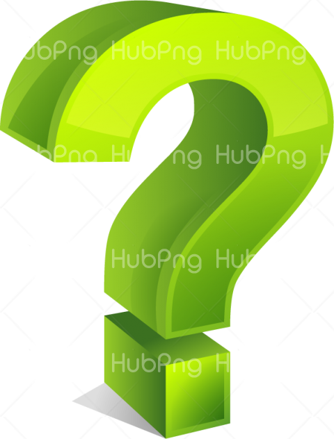 green question mark png Transparent Background Image for Free