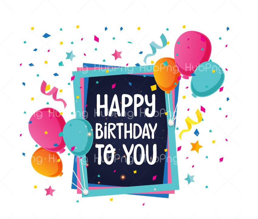 greeting happy birthday png Transparent Background Image for Free