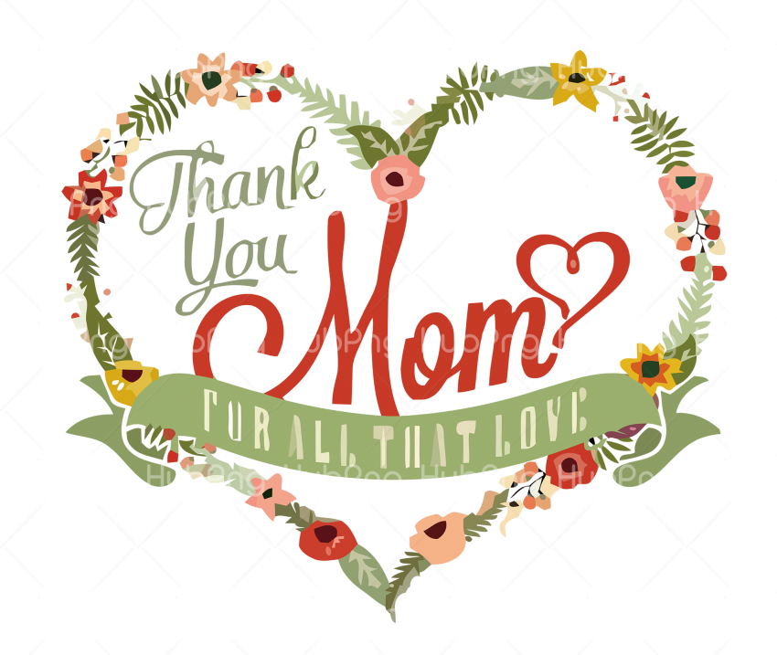 greeting heart Happy Mother's Day Transparent Background Image for Free