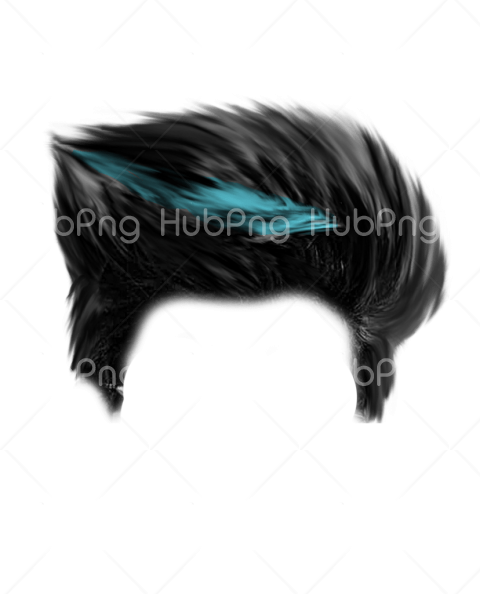 hair png black Transparent Background Image for Free
