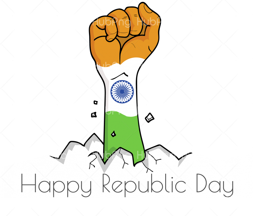 hand happy republic day india png Transparent Background Image for Free