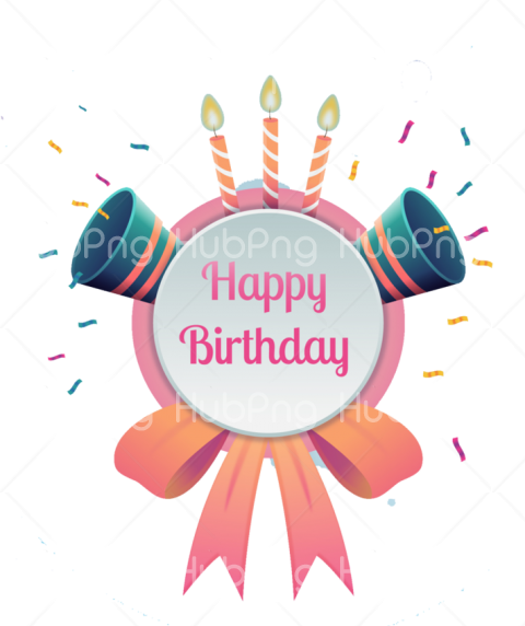 happy birthday banner png Transparent Background Image for Free