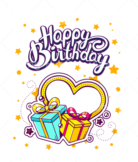 happy birthday png 4 you heart Transparent Background Image for Free
