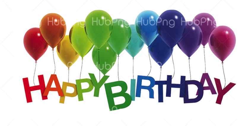 happy birthday png ballon Transparent Background Image for Free