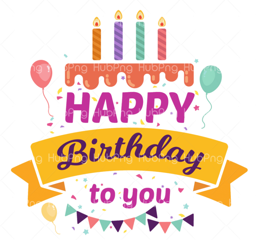 Happy Birthday Png Banner Transparent Background Image For Free