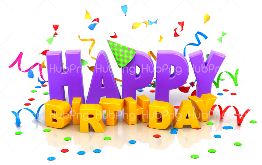 happy birthday png greeting Transparent Background Image for Free