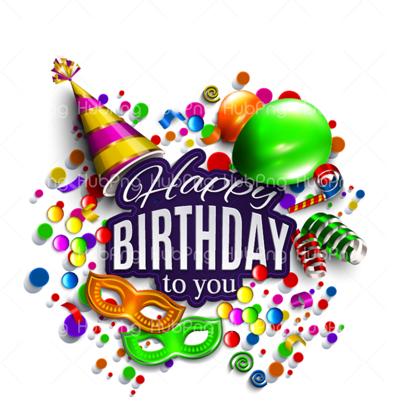 happy birthday png party Transparent Background Image for Free