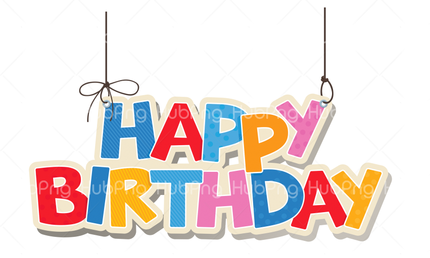 happy birthday png text Transparent Background Image for Free