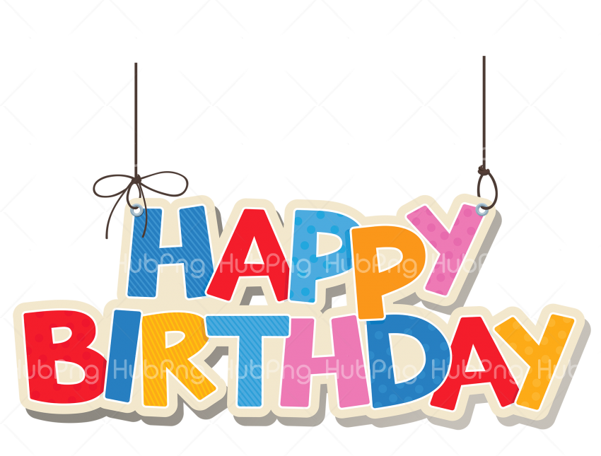 happy birthday text cake png Transparent Background Image for Free