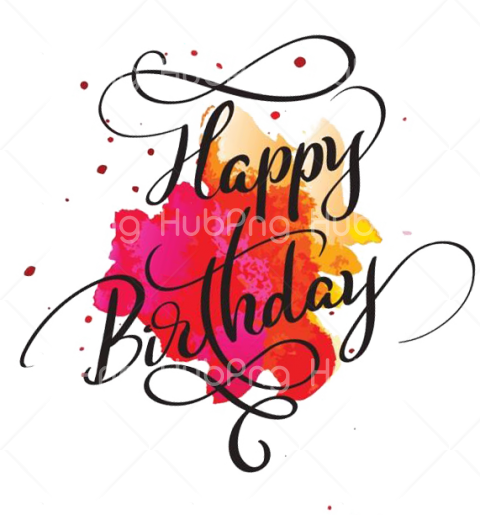 happy birthday text png Transparent Background Image for Free