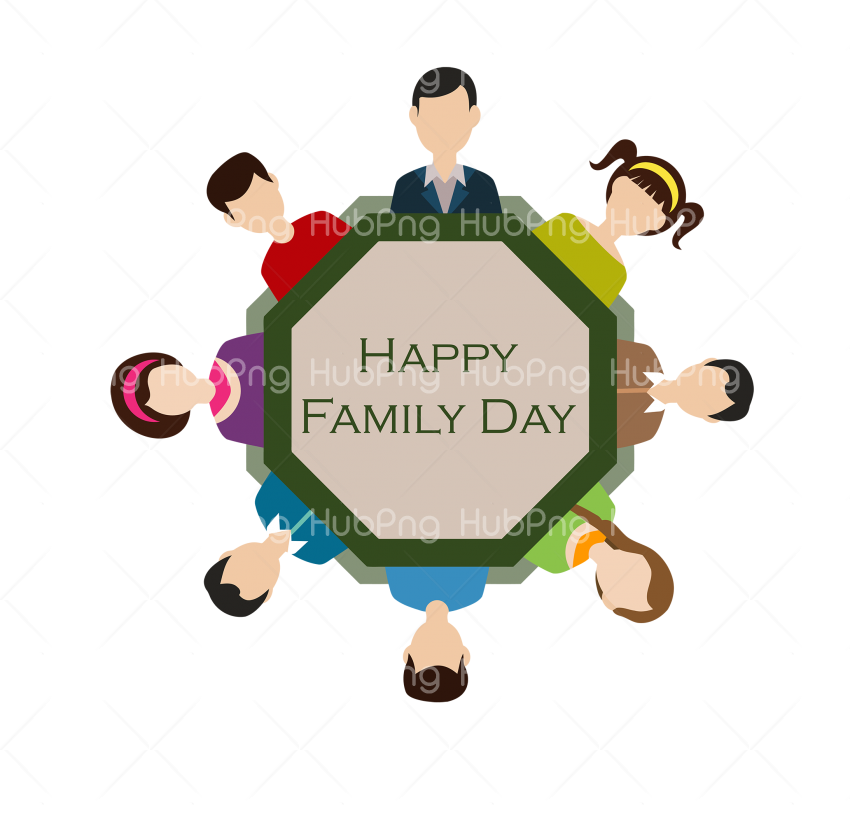 happy family day png Transparent Background Image for Free