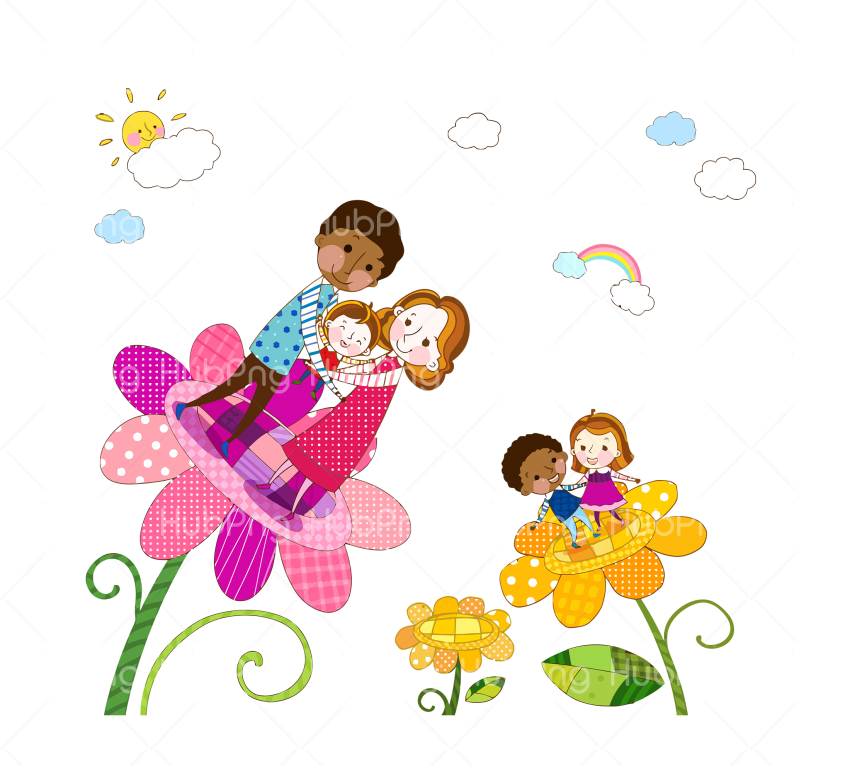 happy family day png flower vector Transparent Background Image for Free