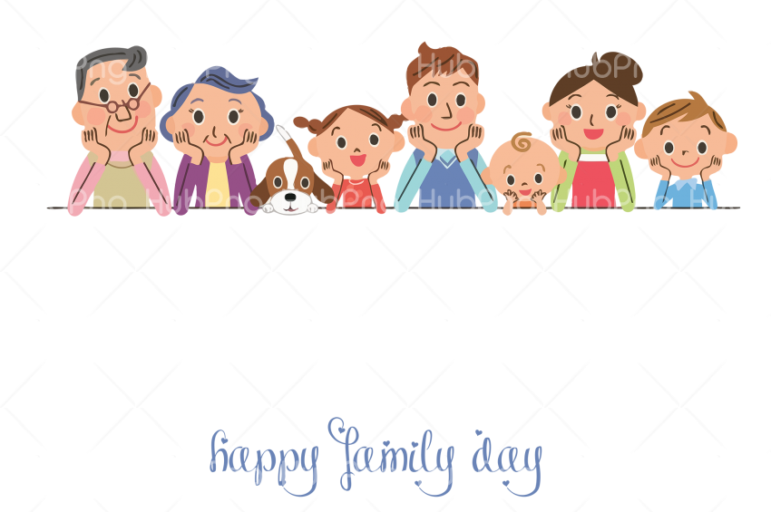 happy family day png hd Transparent Background Image for Free
