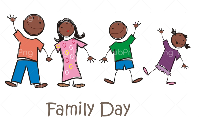 happy family day png kids hd Transparent Background Image for Free