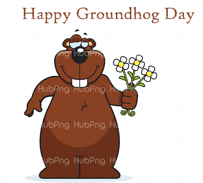 happy groundhog day cartoon png Transparent Background Image for Free