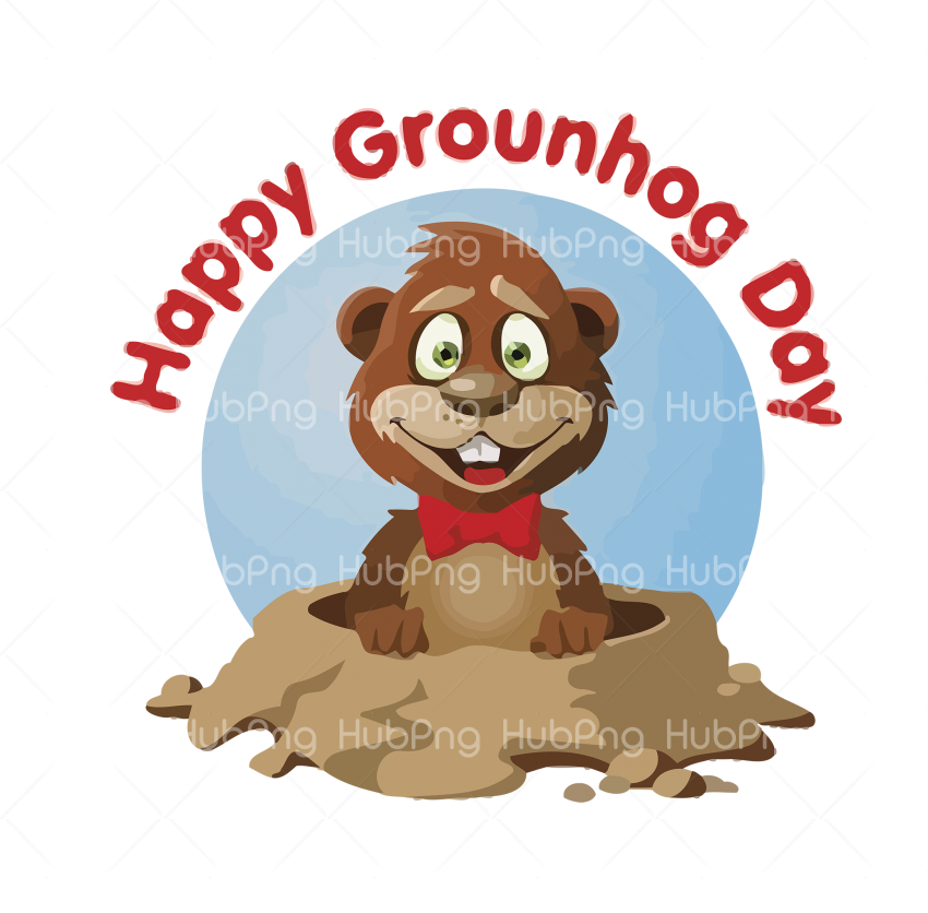 happy groundhog day png hd cartoon Transparent Background Image for Free