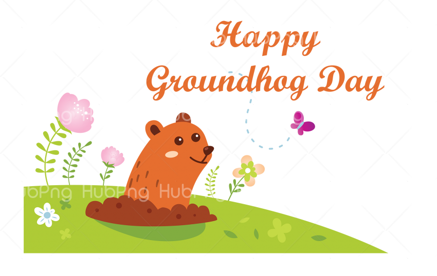 happy groundhog day png logo Transparent Background Image for Free