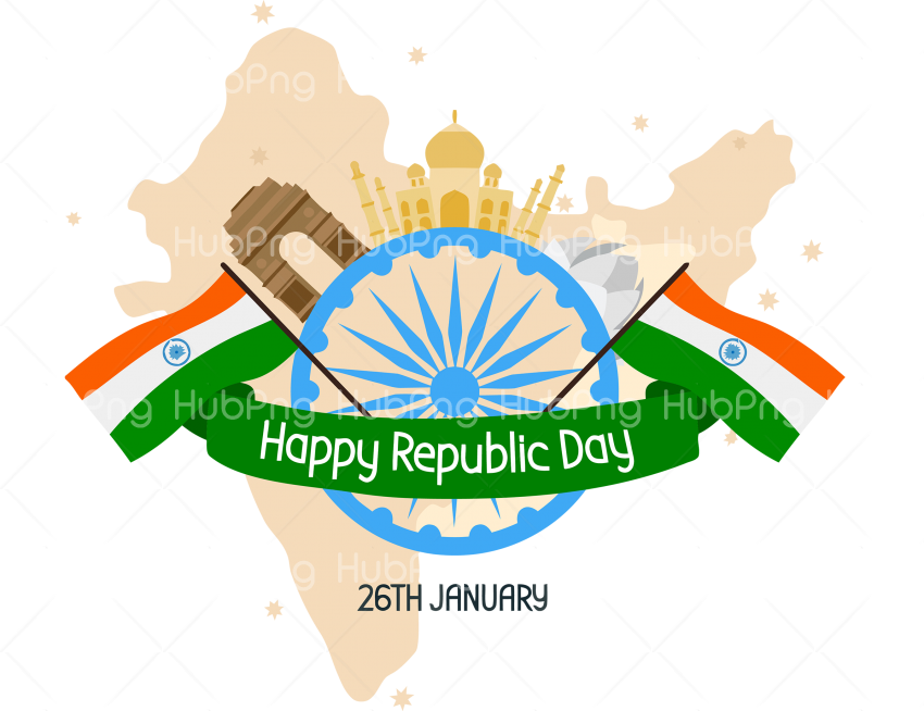 happy india republic day png hd Transparent Background Image for Free