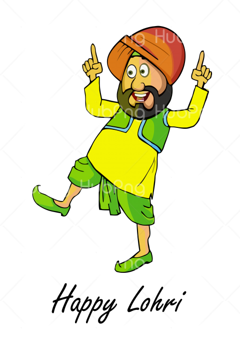 happy lohri png cartoon Transparent Background Image for Free