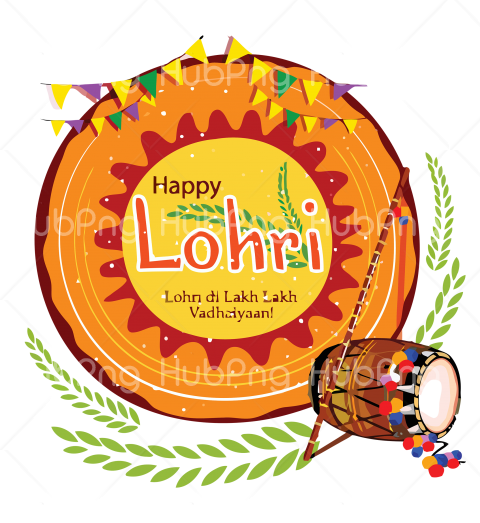 happy Lohri png indian musical Transparent Background Image for Free