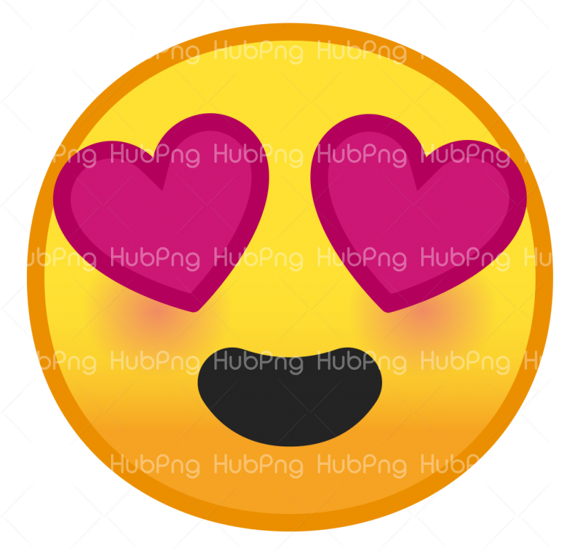 happy love heart emoji png Transparent Background Image for Free