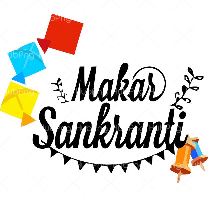 happy makar sankranti png clipart Transparent Background Image for Free