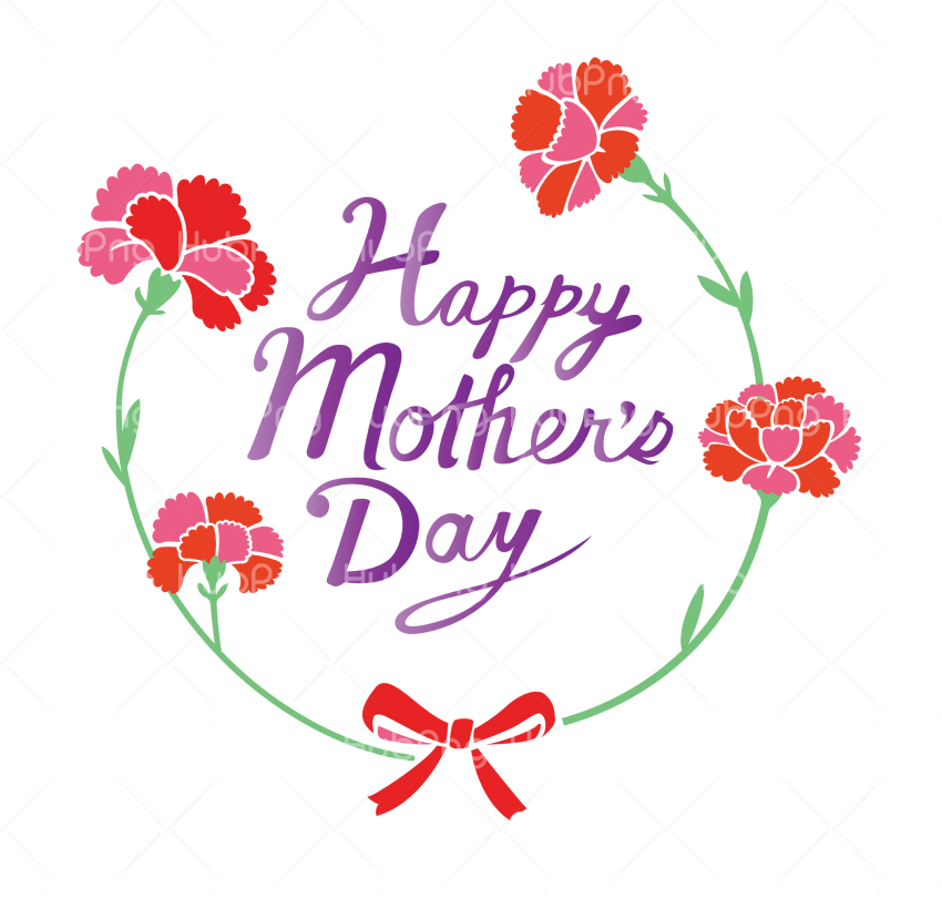 Happy Mother Day logo png Transparent Background Image for Free
