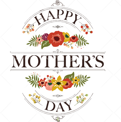 Happy Mothers Day clipart Transparent Background Image for Free
