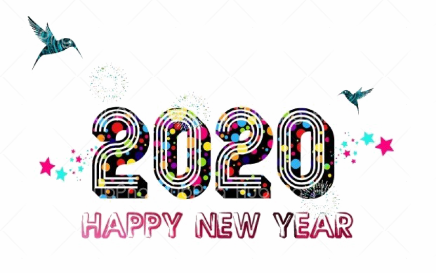 Happy New Year 2020 Png Hd Transparent Background Image For