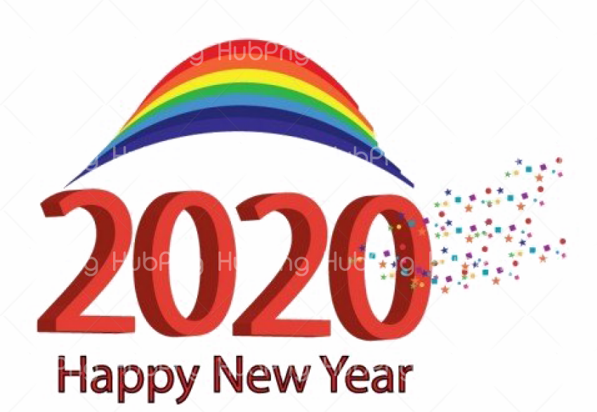 Happy New Year 2020 PNG Image Transparent Background Image for Free