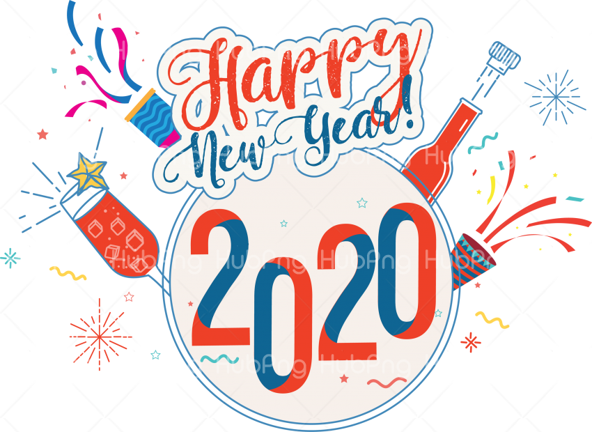 happy new year 2020 png  photos Transparent Background Image for Free