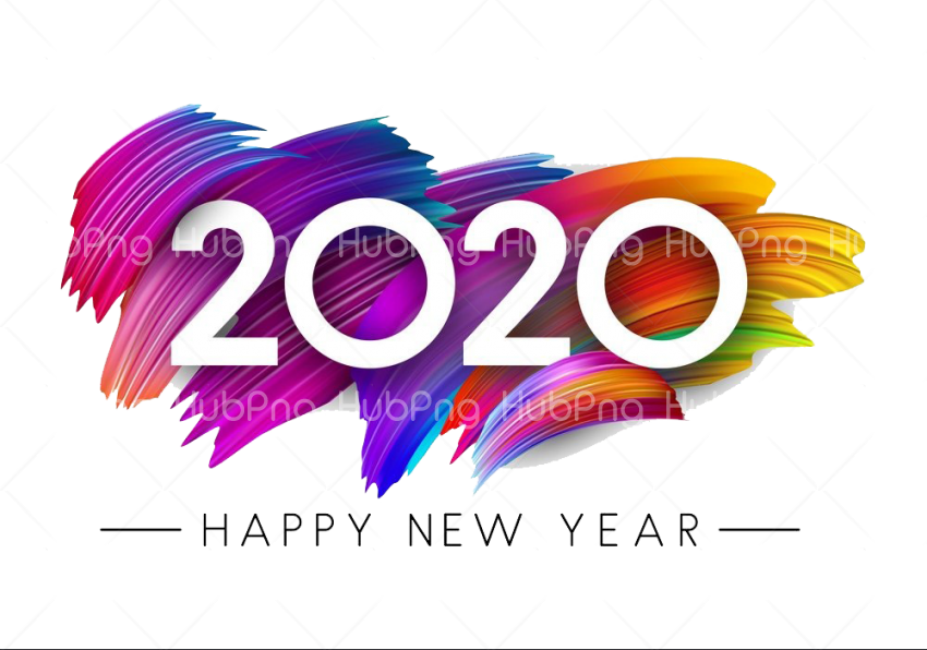 Happy New Year 2020 PNG Transparent Transparent Background Image for Free