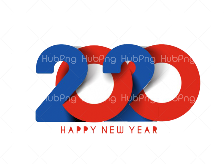 Happy New Year 2020 PNG Transparent Picture Transparent Background Image for Free