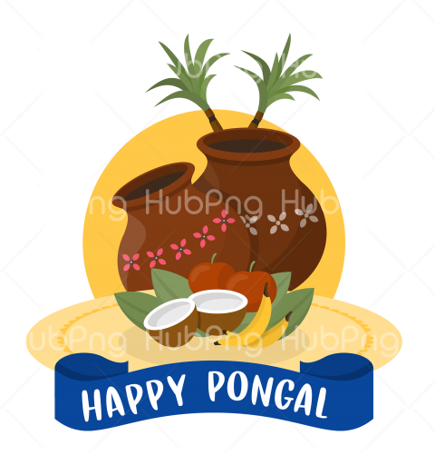 happy pongal png Transparent Background Image for Free