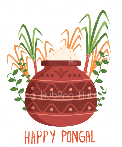 happy pongal png flowerpot Transparent Background Image for Free