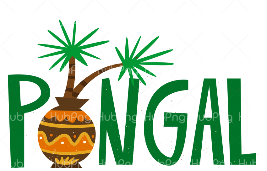 happy pongal png text Transparent Background Image for Free