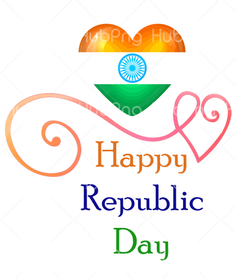 happy republic day png india Transparent Background Image for Free