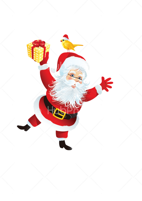 happy santa claus png Transparent Background Image for Free