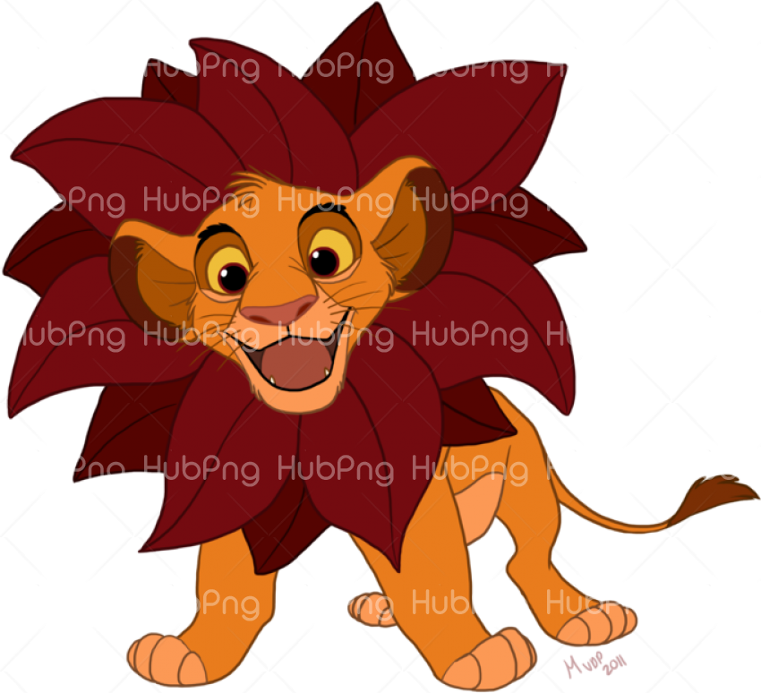 happy simba png Transparent Background Image for Free