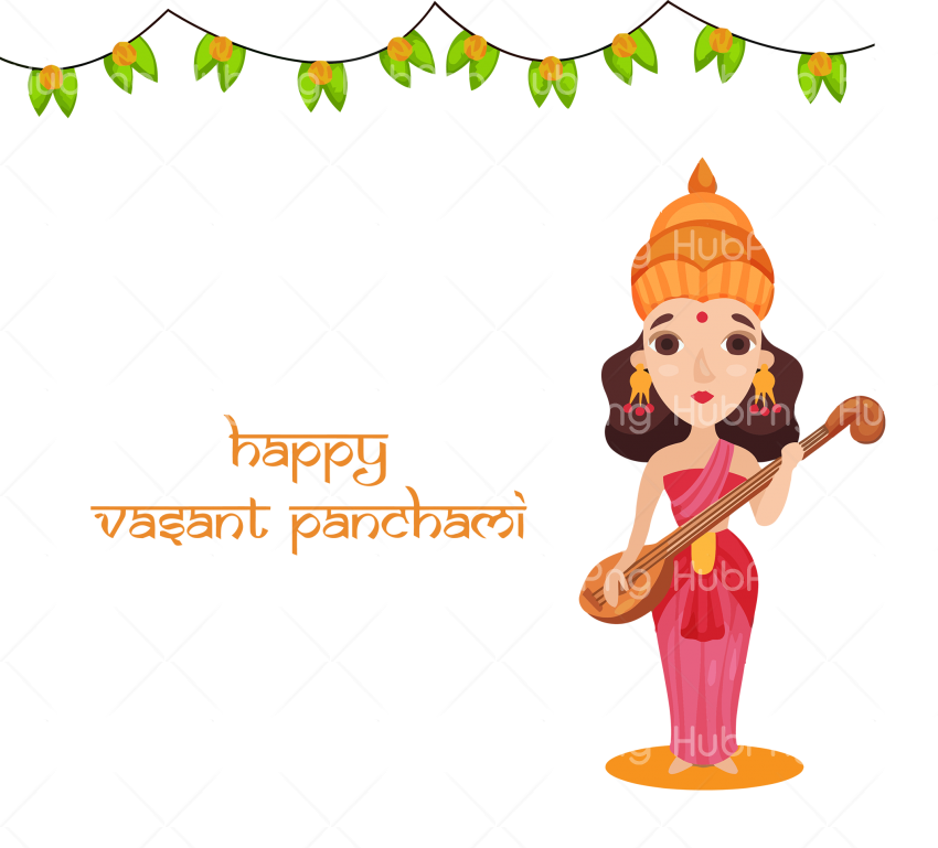 happy vasant Panchami png Transparent Background Image for Free