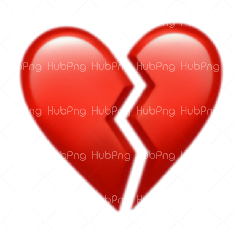 Heart emoji png broken Transparent Background Image for Free